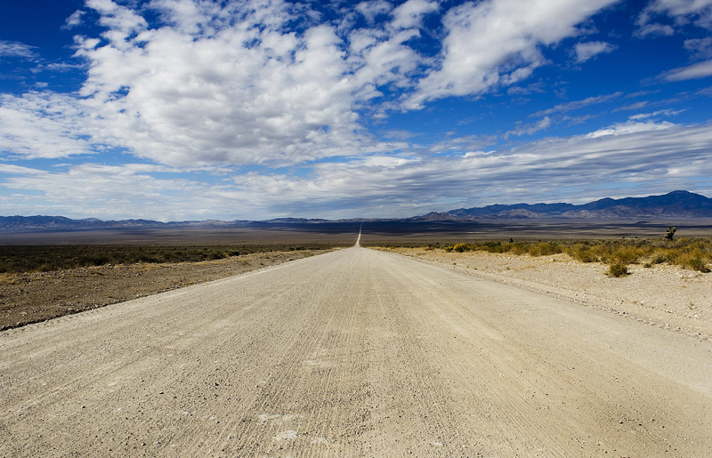 Groom Lake Road Leading to Area 51 - Nevada