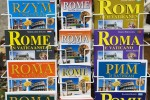 Multi-Language Book Covers for Rome Italy