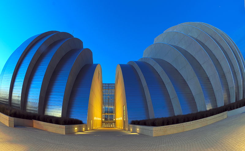 Kauffman Center at Dawn - Fisheye View / bwb-images