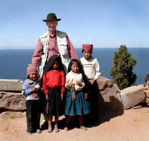 With My Friends at Lake Titicaca Peru - Alt. 12,628 ft / bwb-images