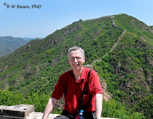 Yours truly following my own advice and taking a break on The Great Wall