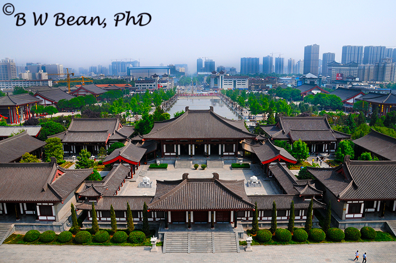 View of Xian from atop The Great Goose Pagoda. bwb-images