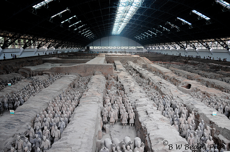 One of three buildings housing the famous Terra Cotta Warriors. bwb-images