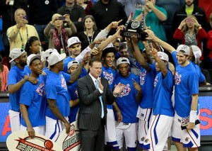 KU Celebrate Winning the Big 12 Championship / KU Photo