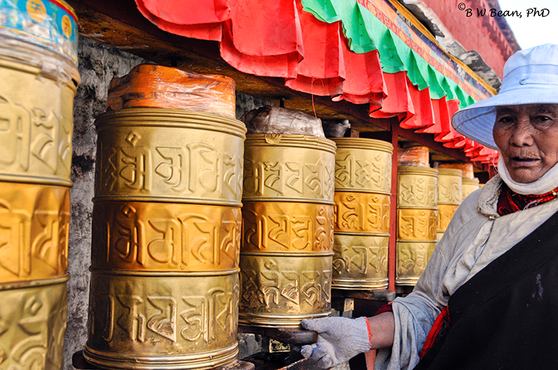 tibet Prayer Drum Lady