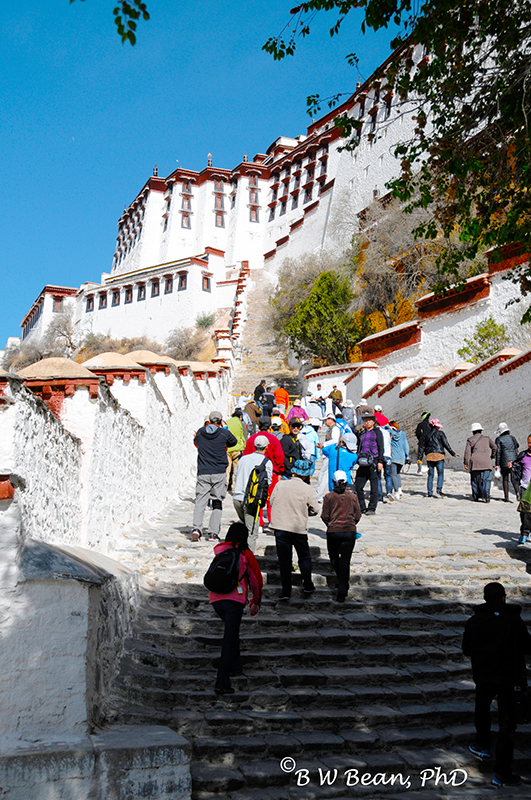 The Climb To Potala Palace