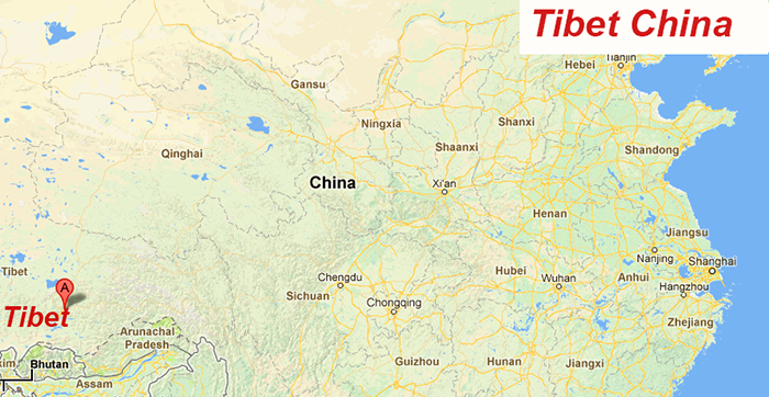 Map of China & Tibet