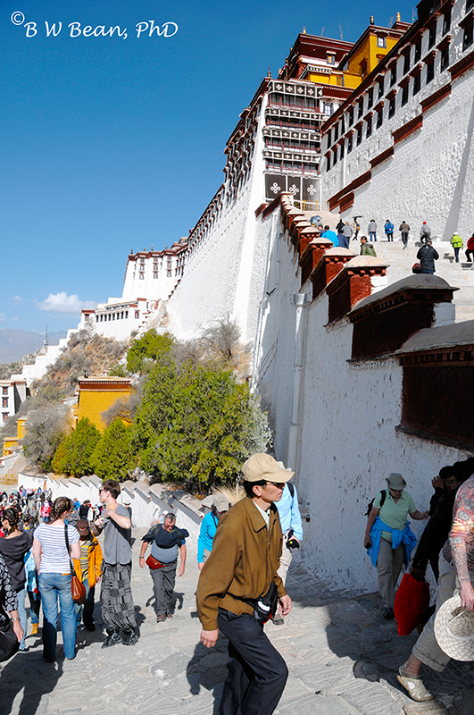 Continuing Climb to Potala Palace