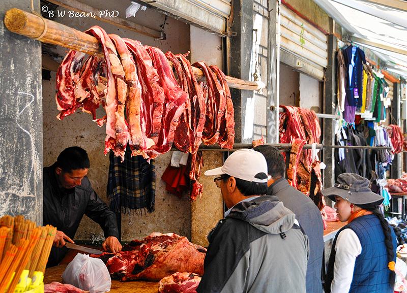 Tibet Meat Vender