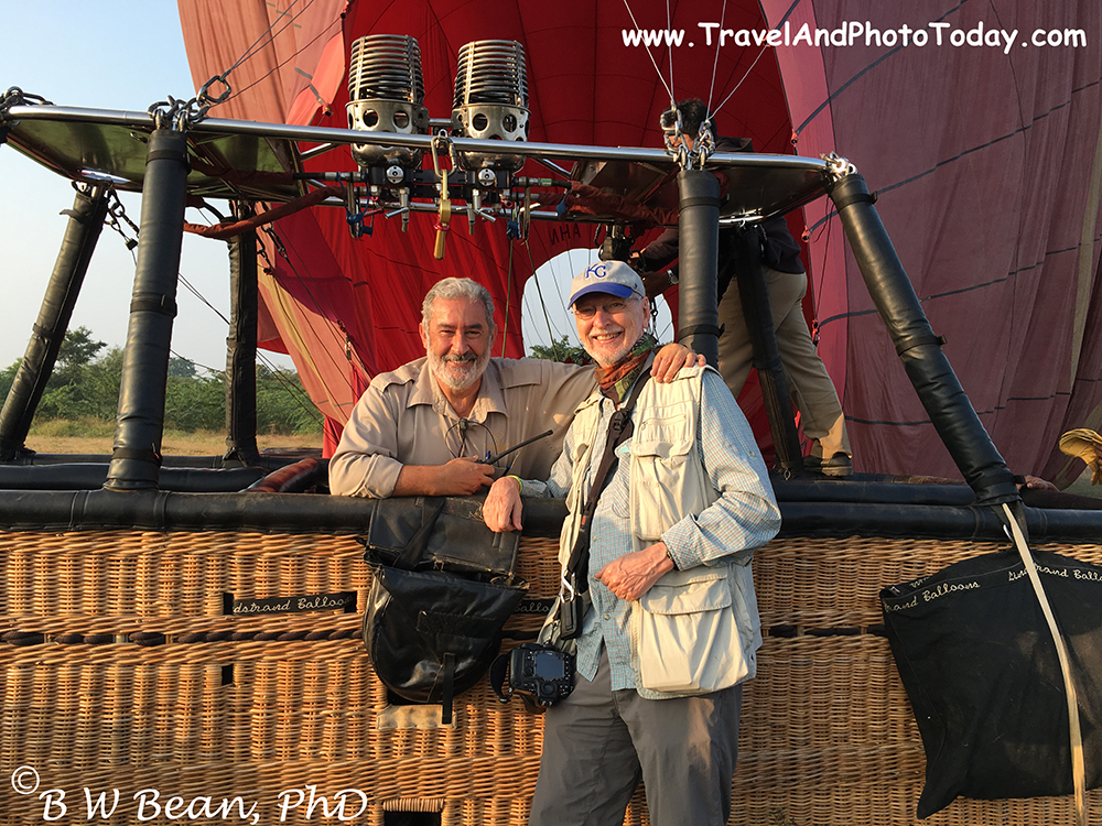 Bagan Balloon pilot & me