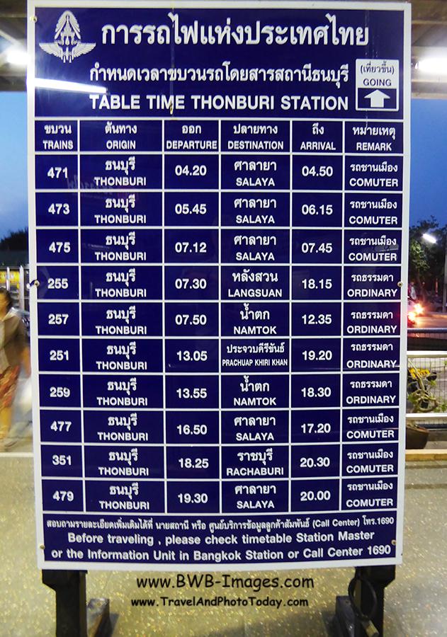 Kwai Timetable