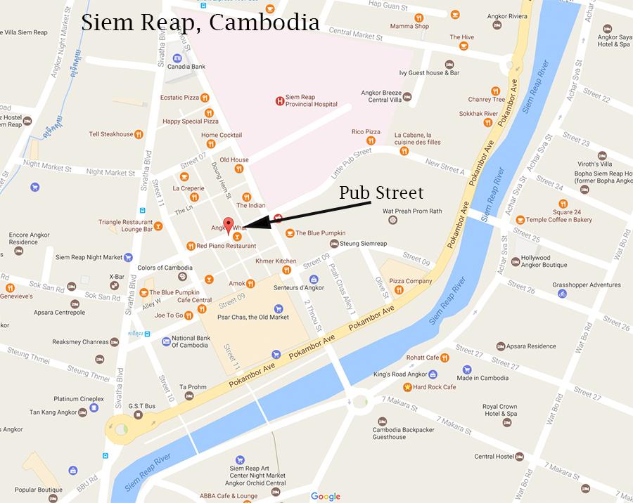 Pub Steet map