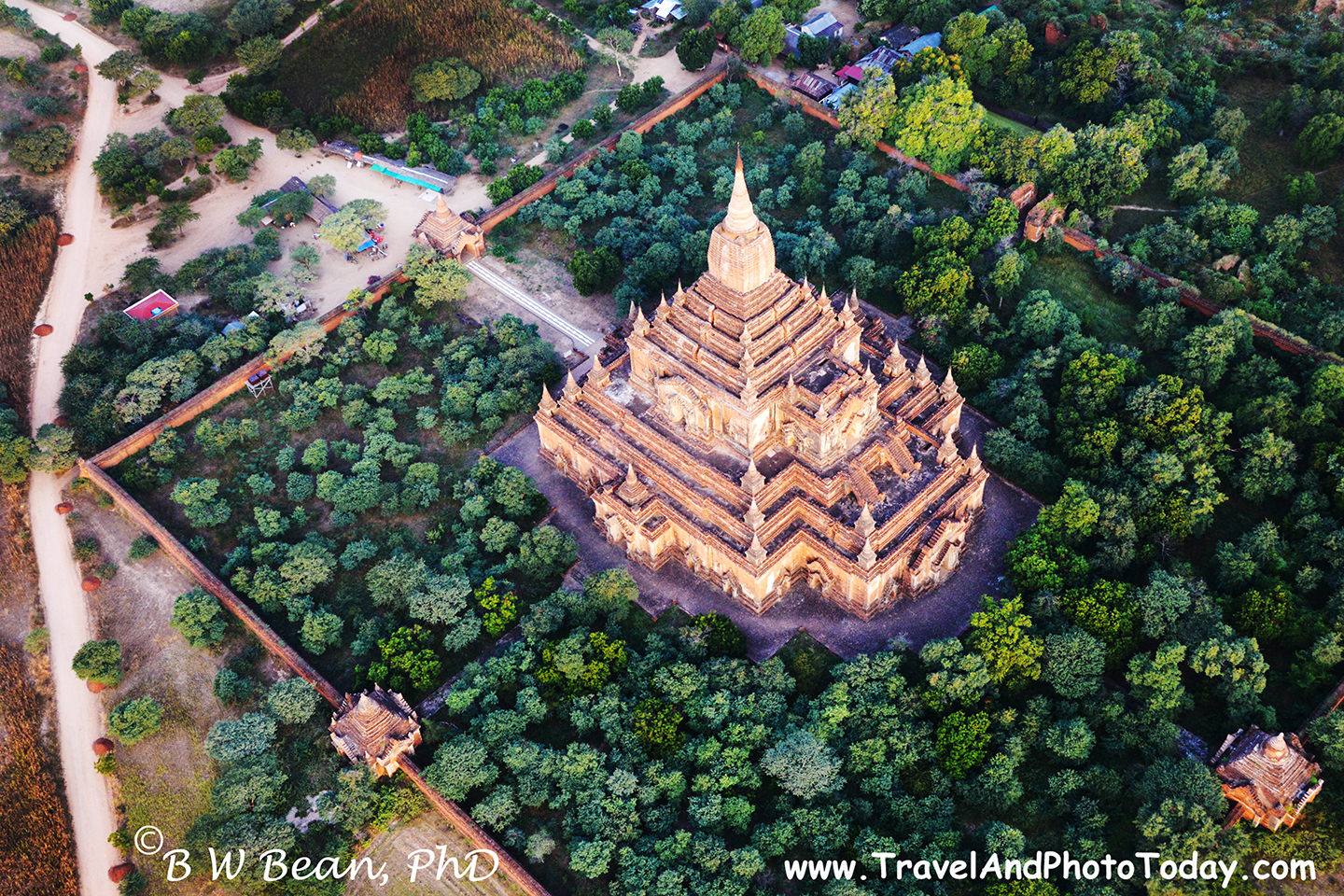 Temple by air