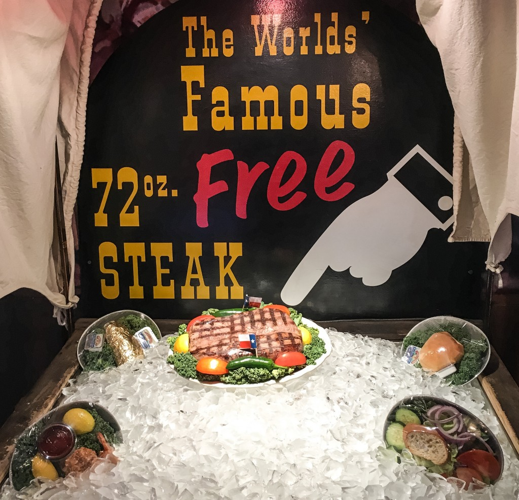 72 oz Steak and all the Trimmings