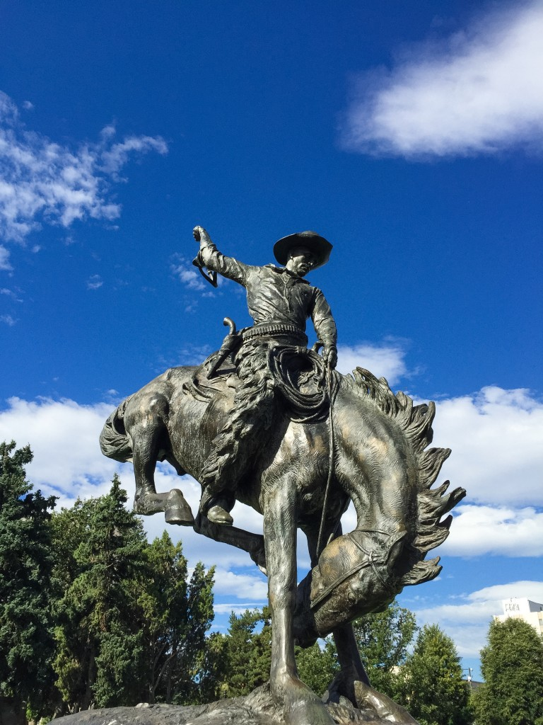 Cowboy statue at Civic Center Park