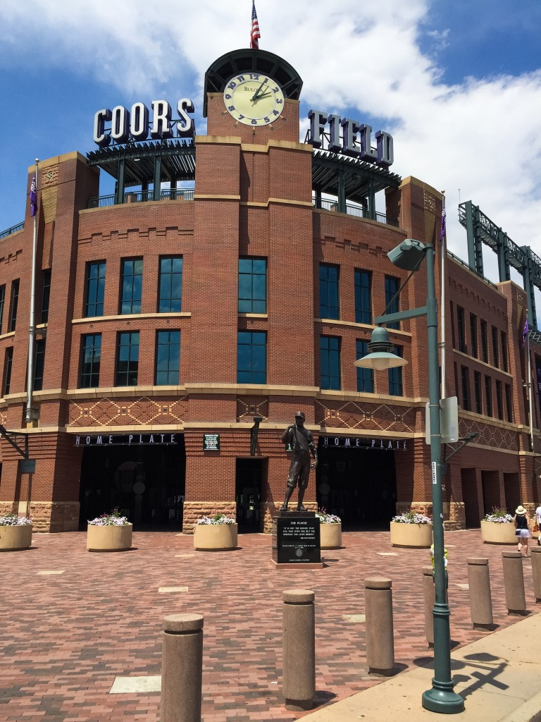 Coors Field - Home of the Colorado Rockies baseball team.
