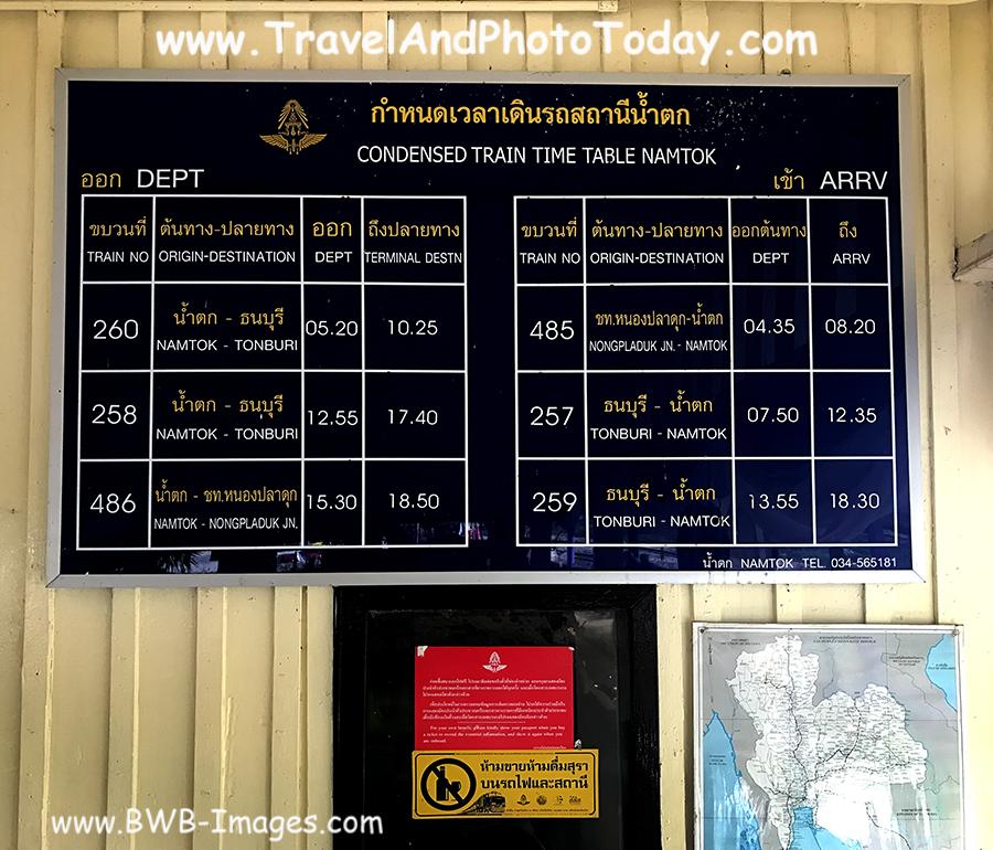 kwai namtok schedule