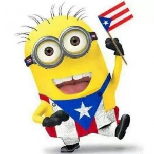 minion with flag