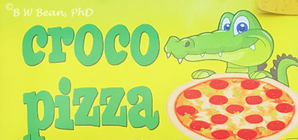 Croco Pizza Sign