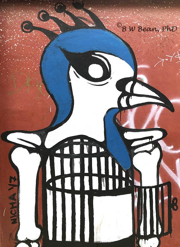 Chiang Mai Street Art - Bird